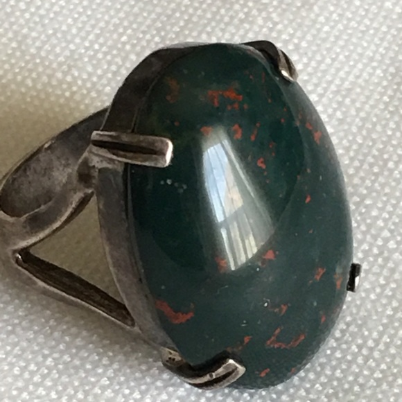 ❤️Sterling silver bloodstone ring size 7